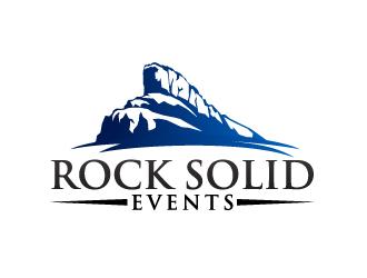 Rock Solid Events logo design