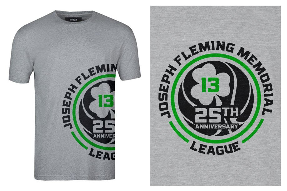 Joseph Fleming Memorial League 2015 25th Anniversary logo design