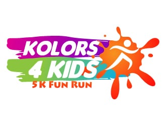 Kolors 4 Kids 5k Fun Run logo design