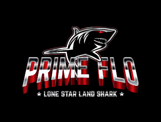 prime flo (lone star land shark) logo design