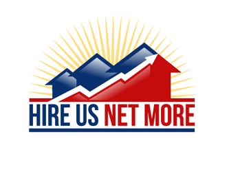 Hire Us Net More logo design