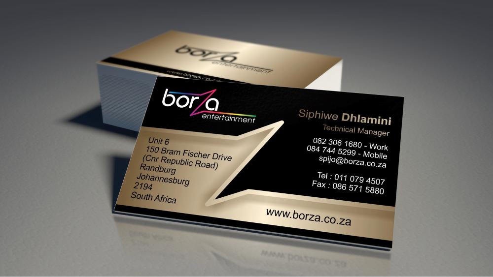 Borza Entertainment logo design