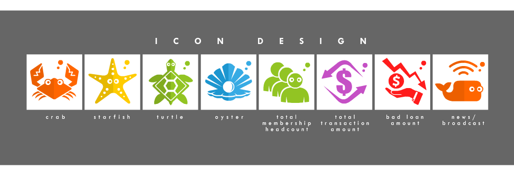 Icons For Dot Com Startup logo design