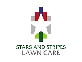 Stars and Stripes Lawn Care logo design