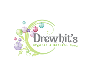 drewhits organic and natural soap logo design - 48hourslogo