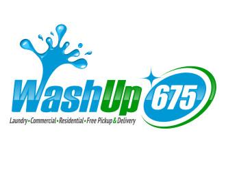 Wash Up 675 logo design