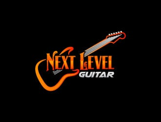 next level guitar logo design