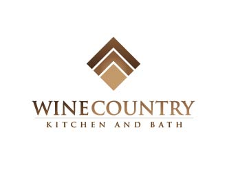 Wine Country Kitchen and Bath logo design