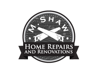 M. Shaw Home Repairs and Renovations logo design