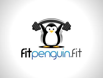 Fit Penguin logo design