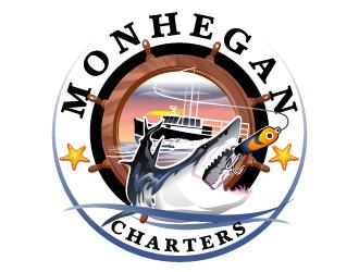 Monhegan Charters logo design