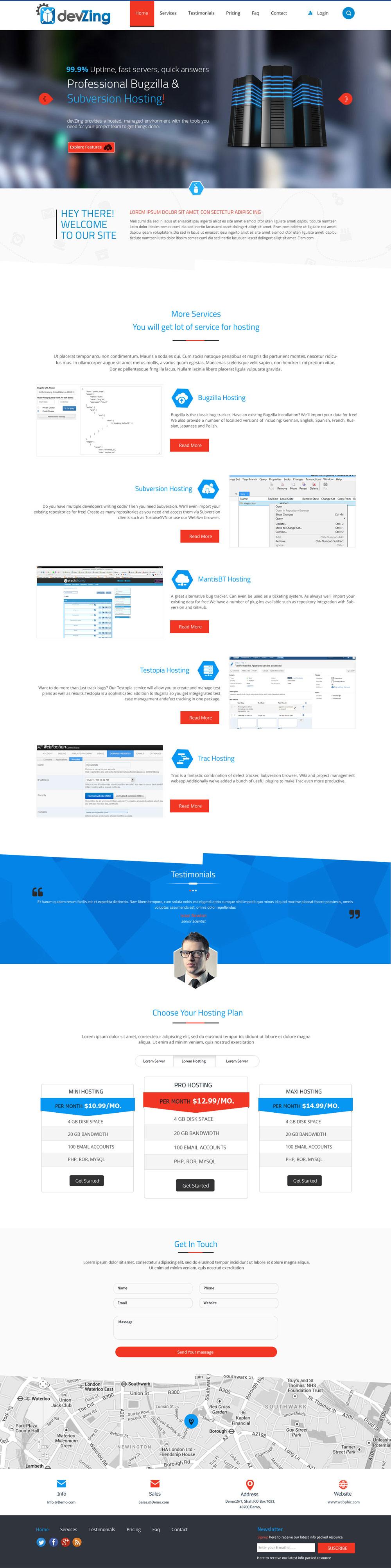 devZing Home page logo design
