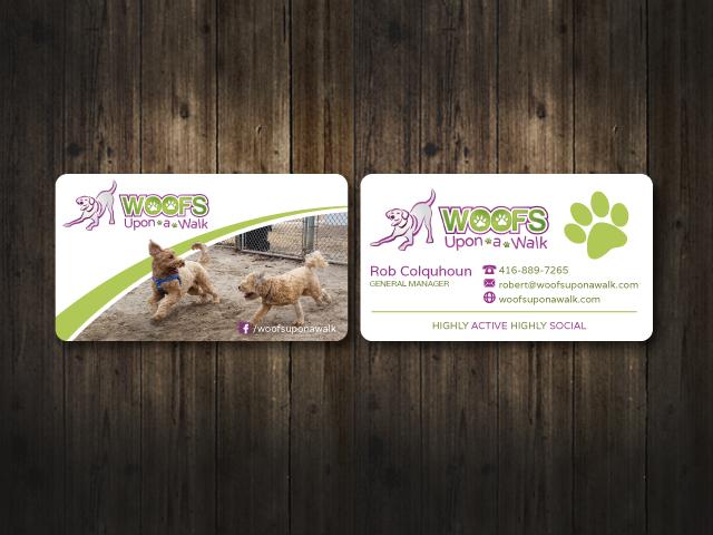 Woofs Upon a Walk logo design