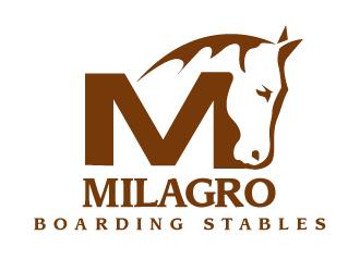 Milagro Boarding Stables logo design
