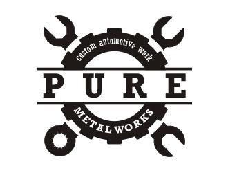 PURE Metal Works logo design - 48HoursLogo.com