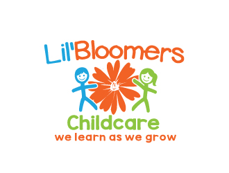 Lil'Bloomers Childcare logo design