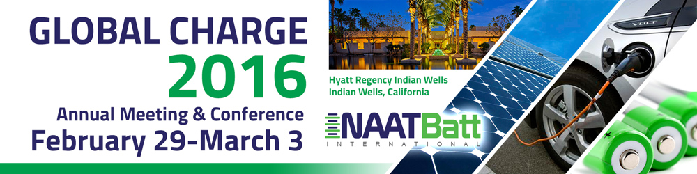 NAATBatt 2016 Annual Meeting & Conference logo design