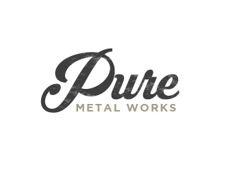 PURE Metal Works logo design