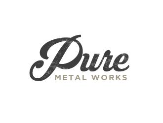 PURE Metal Works logo design