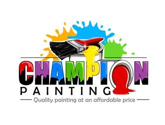 champion painting logo design 48hourslogo com
