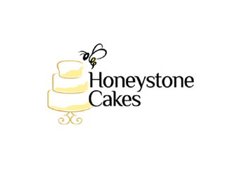 Honeystone Cakes logo design