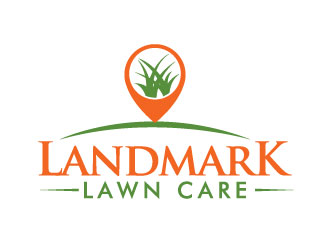 Landmark Lawn Care logo design