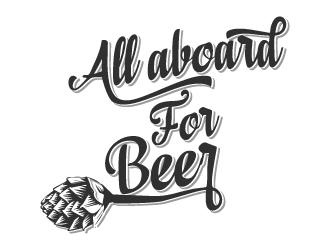 ALL ABOARD FOR BEER logo design