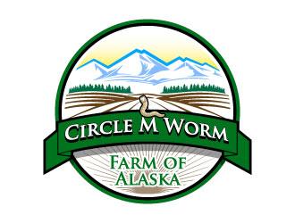Circle M Worm Farms of Alaska logo design