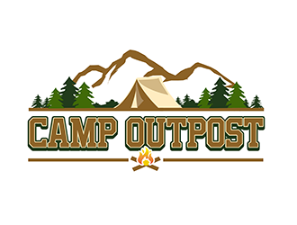 Camp Outpost logo design
