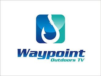Waypoint Outdoors TV logo design