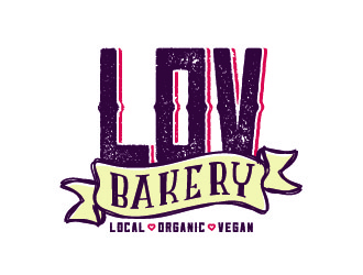 LOV Bakery logo design