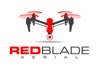 Red Blade Aerial logo design
