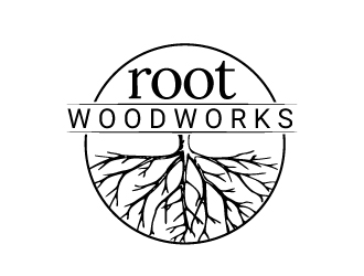 Root Woodworks logo design