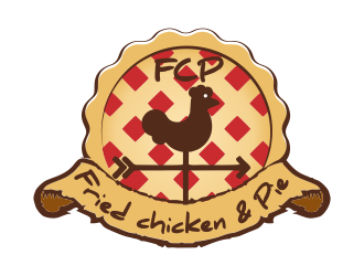 Fried chicken & Pie - OR- FCP logo design