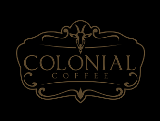 Colonial coffee logo design