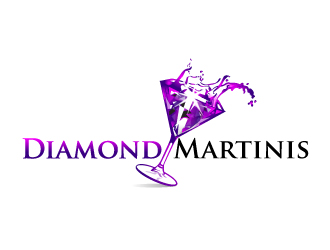 Diamond Martinis logo design