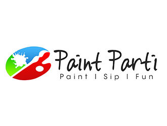 Paint Parti logo design