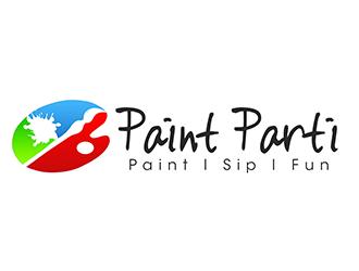 Paint Parti logo design