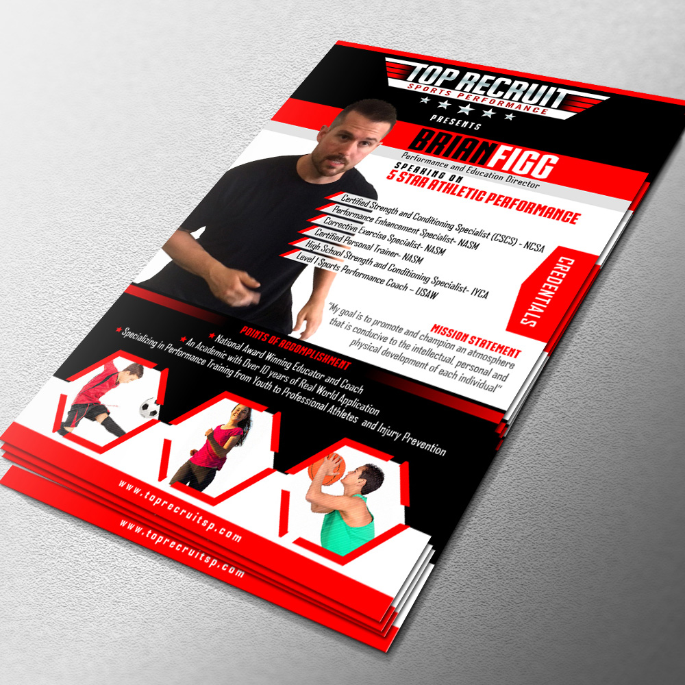 Youth Sports Performance Speaking Engagement Flyer logo design