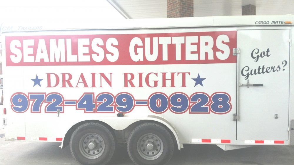 Drain Right Seamless Gutters Logo Design 48hourslogo Com