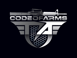 CODE OF ARMS logo design