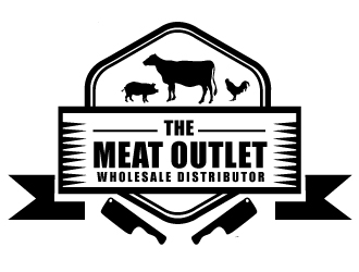 The Meat Outlet logo design