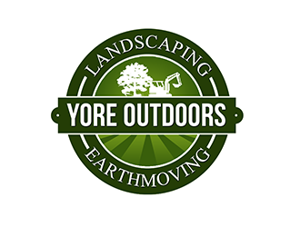 Yore Outdoors Landscaping and Earthmoving logo design