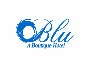 BLU   A Boutique Hotel Experience logo design