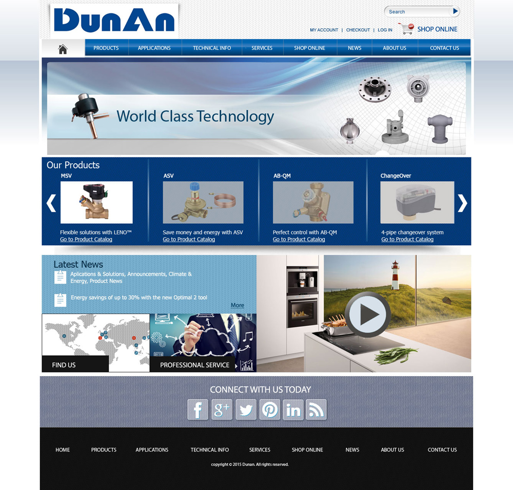 New Website Design for AV/Refrigeration Manufacture Company web ...
