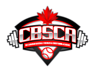 The Canadian Baseball Strength & Conditioning Academy or CBSCA logo design