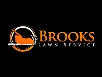 Brooks Lawn Service or Brooks Lawn Care logo design
