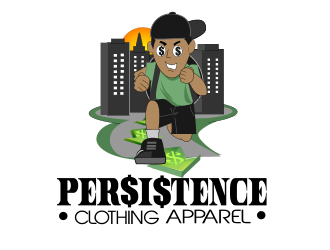Persistence Clothing Apparel logo design