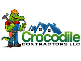 Crocodile Contractors LLC logo design