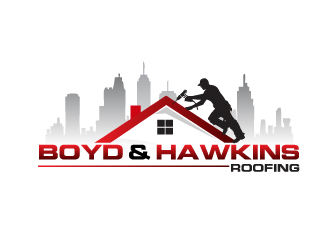 Boyd Amp Hawkins Roofing Logo Design 48hourslogo Com